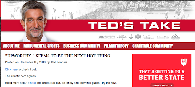 Ted Leonsis Found A Website. Then He Wrote Something Life Changing.
