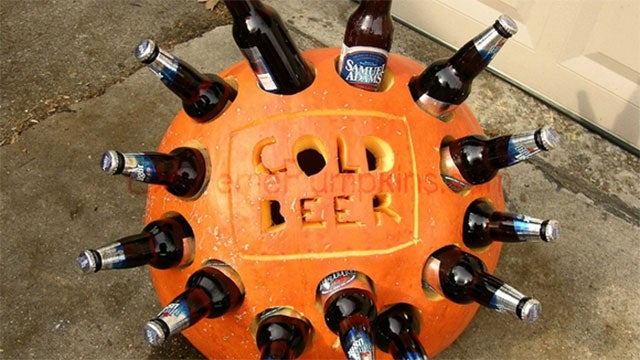 Turn Your Leftover Halloween Pumpkins into Drink Coolers