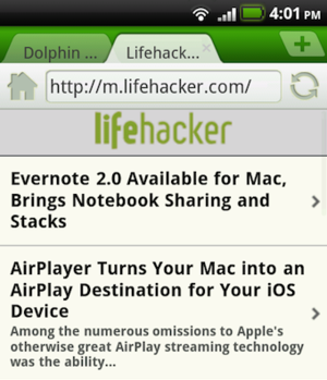 Dolphin Mini Is a Feature Filled, Yet Lightweight Android Browser Alternative