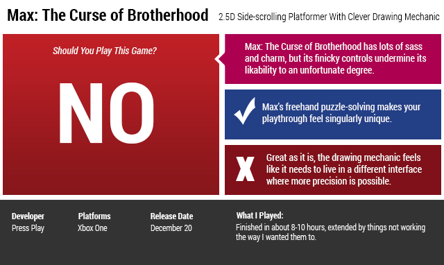 ​Max: the Curse of Brotherhood: The Kotaku Review