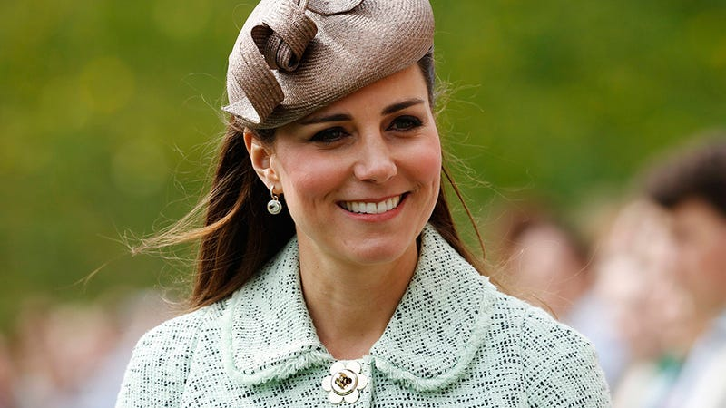 Kate Middleton Dresses the Royal Bump in a Minty Fresh Coat