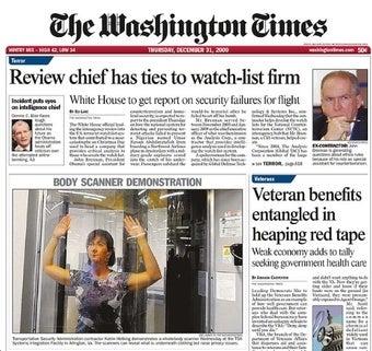 Happy New Year, Washington Times