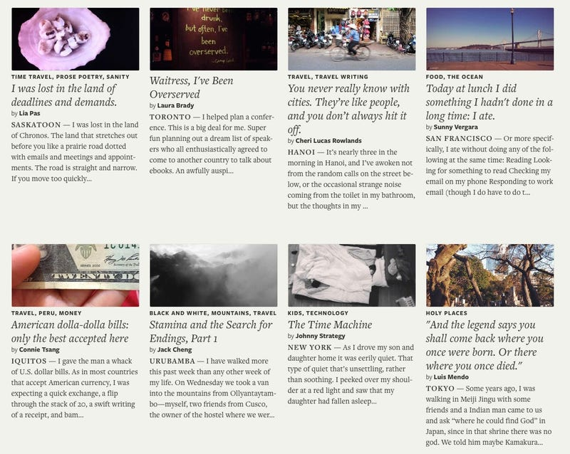 A New Geo-Tagged Storytelling Site Might Be The Ultimate Travel Tool