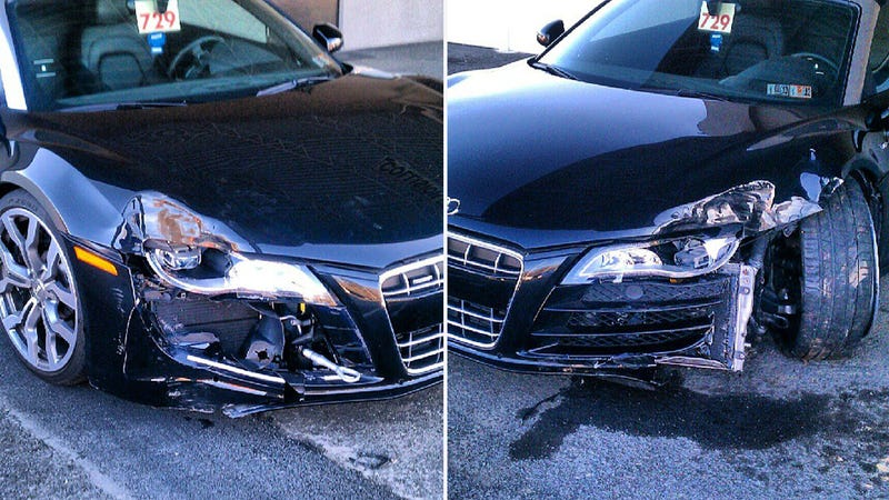 This Is Why You Don't Stunt In Dad's Audi R8 V10