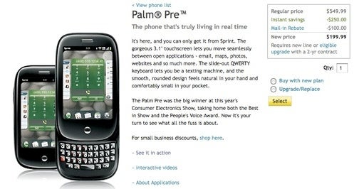 Palm Pre's Newest Feature: You Can Buy It Online