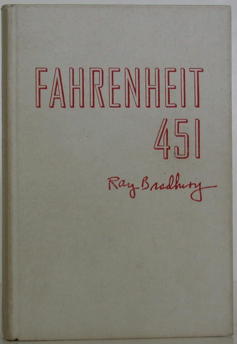 Limited edition of Fahrenheit 451 was bound in asbestos so it wouldn't burn