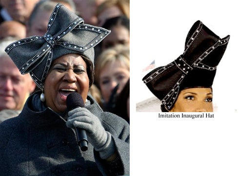 Aretha's Inauguration Hat: Makers Of Knock-Offs To Be Sued