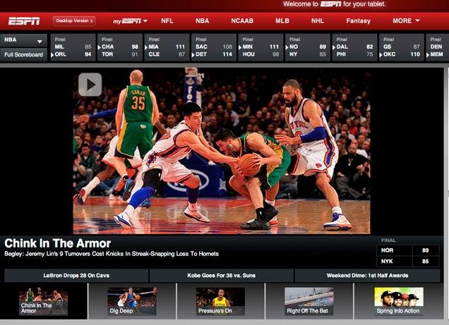"ESPN Fires ""Chink In The Armor"" Scribe"
