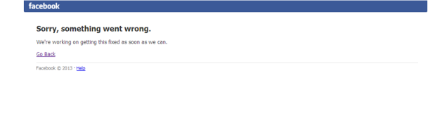 Facebook Is Down (Updated: It's Fixed!)