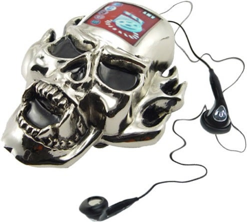 MP3-Playing, Photo Frame Skull Belt Buckle is Gothic Gadget Wrongness