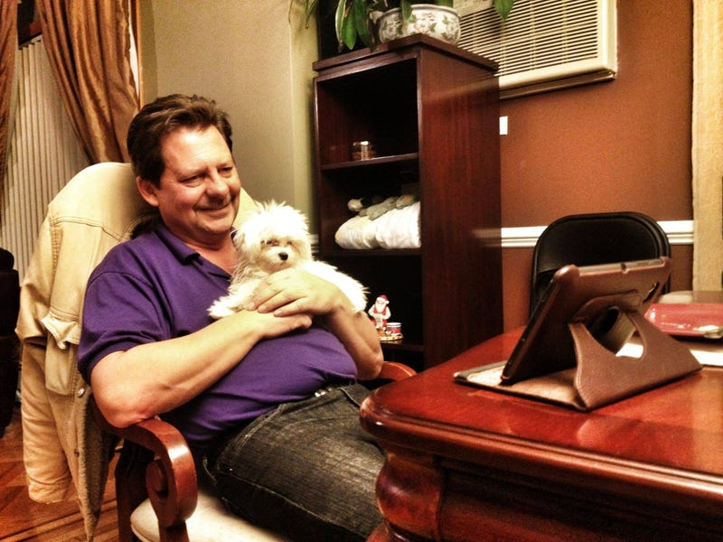 Dad Can't Contain His Squee Over Surprise Christmas Puppy