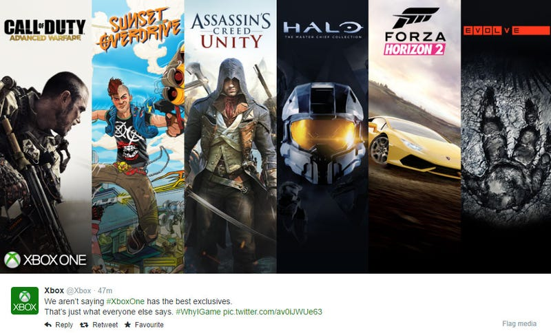 "Xbox Sends Tweet That Doesn't Understand The Word ""Exclusive"""