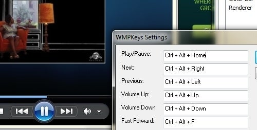 WMP Keys Adds Universal Keyboard Shortcuts to Windows Media Player