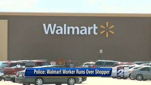 Walmart Vigilante Takes Down Would-be Shoplifter with His Car