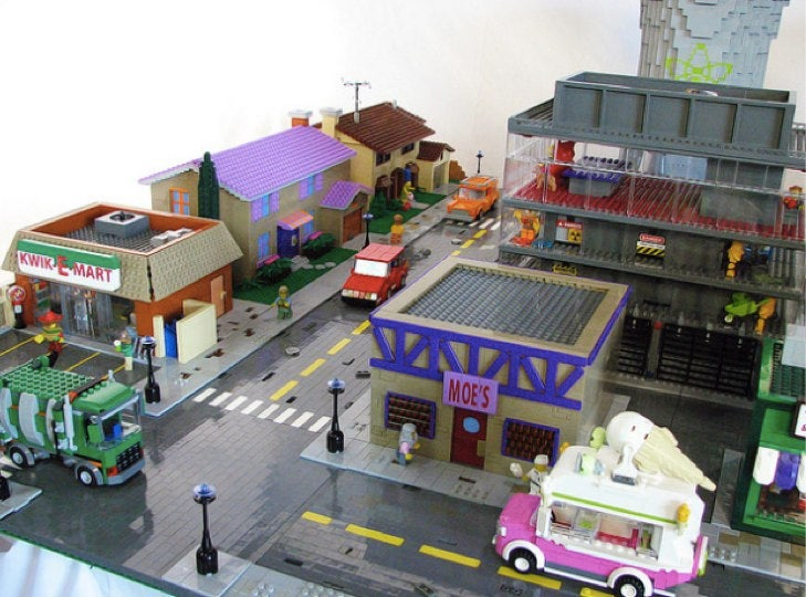 The Simpsons' Springfield Made Entirely Out Of Legos!