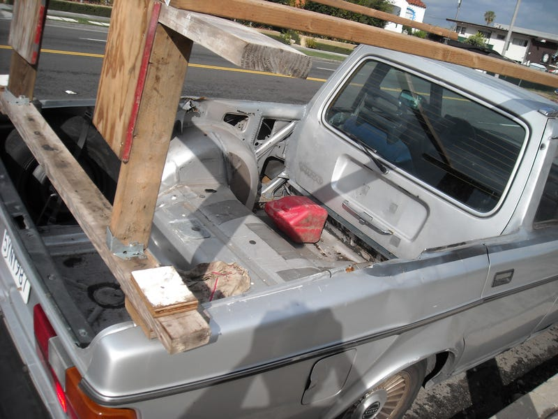 Volvo 240chero Blows Mind, Safely Hauls Mind Home