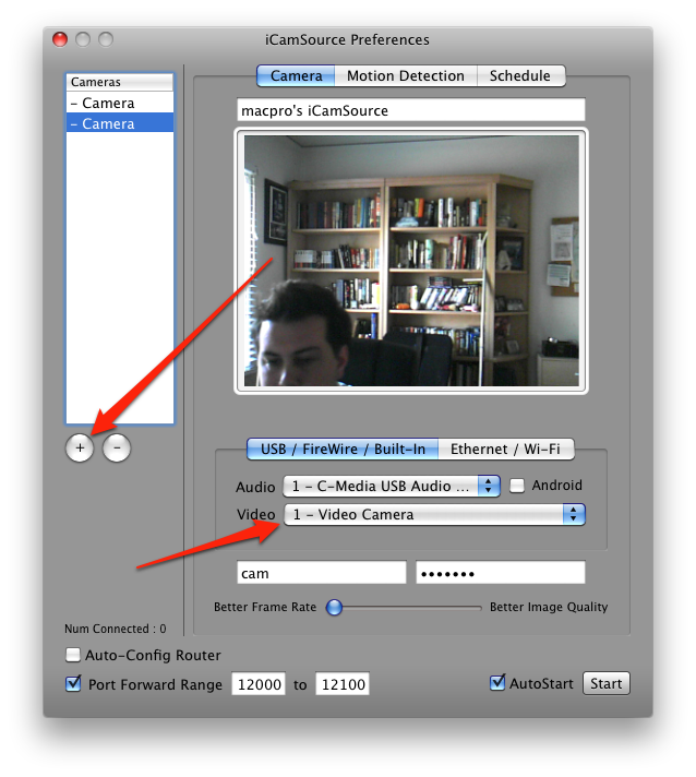How to Create a Remotely Viewable, Motion-Sensing Home Security System with Your iDevice and Spare Webcams