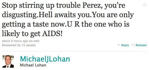 Michael Lohan Says Perez Hilton Is Likely To Get AIDS