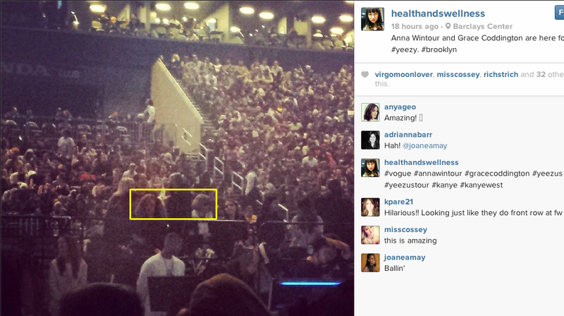 Anna Wintour Went to a Kanye Concert and We Have So Many Questions