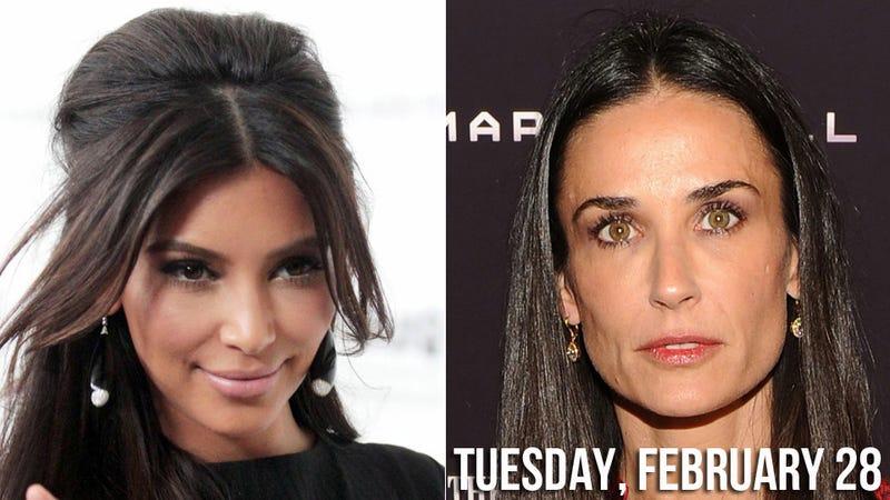 Mean Girl Kim Kardashian Mocks Demi Moore's Meltdown
