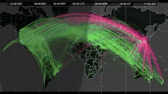 Watch Tweets As They Flow Out of Japan After The Earthquake