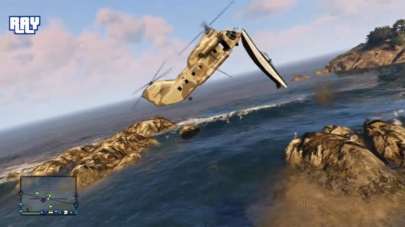 It Is Awfully Difficult To Catch A Boat With A Helicopter In GTA V