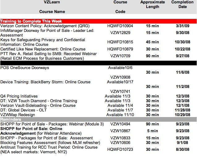 Verizon Training Doc Shows BlackBerry Storm, Touch Diamond Release Date, OTA Ringtone Backups