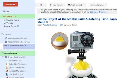 Supercharge Google Reader with Styles and Extensions