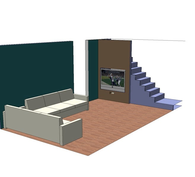 Home Theater Under the Stairs Makes Perfect Sense