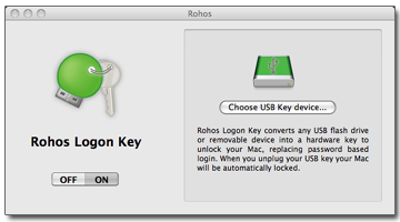 Rohos Logon Key Converts Any USB Stick To a Mac Login Key