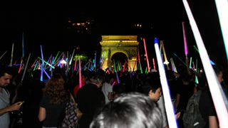 Epic Light Saber Battle in NYC
