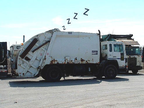 Waking Up In Garbage Truck May Be A Sign Of A Drinking Problem