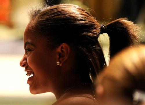 Malia's Braces Make Her Smile Even Brighter