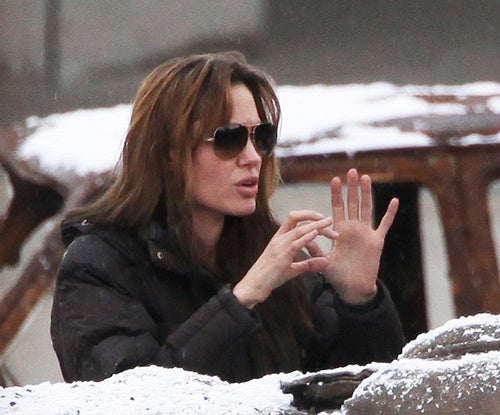 Angelina Teaches Film Crew The Itsy Bitsy Spider