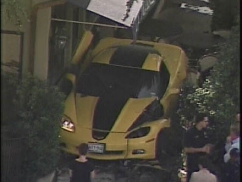 Limited Edition Hertz Corvette ZHZ Slams Into Dallas Restaurant... One Down, 499 To Go