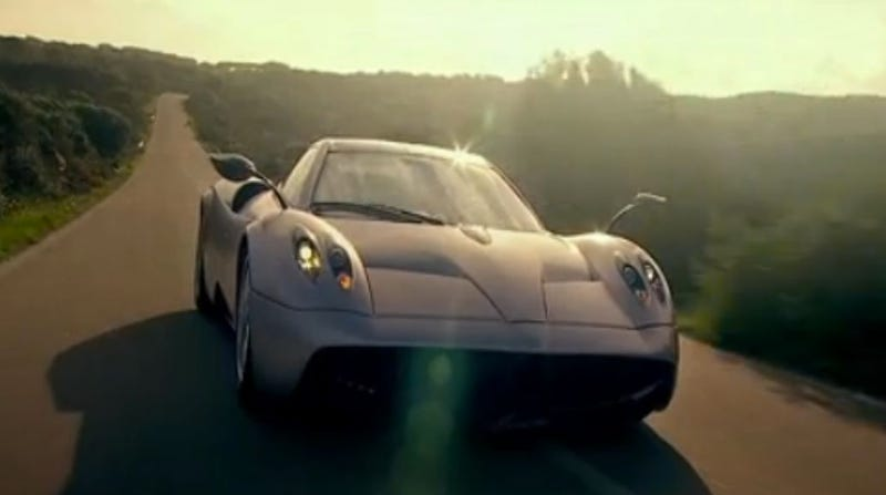 Sweeping dramatics of the new Pagani Huayra video