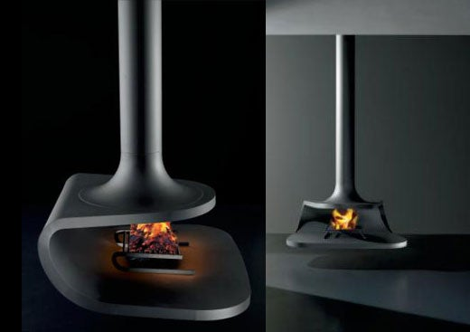 Antrax Drop Fireplace: Hot Italian Design