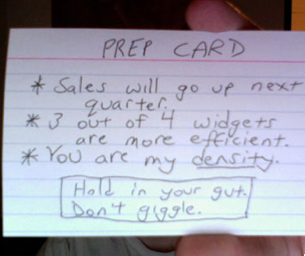 Remember Your Important Points with a Prep Card