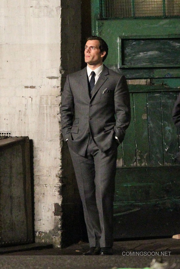 Our first look at Henry Cavill on the Man from U.N.C.L.E. set