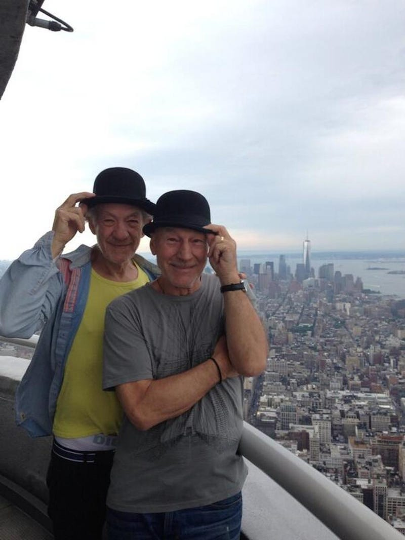Patrick Stewart and Ian McKellen Are New York's Best Tourists