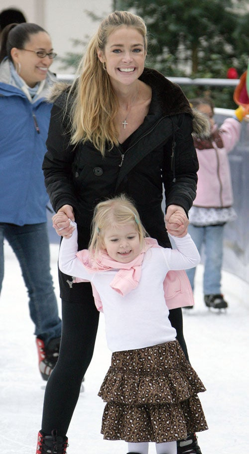 Denise & Daughter On Thin Ice