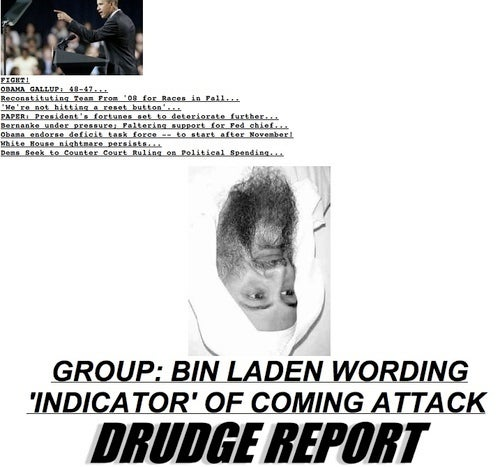 Drudge's Upside-Down Bin Laden: What Does It Mean?