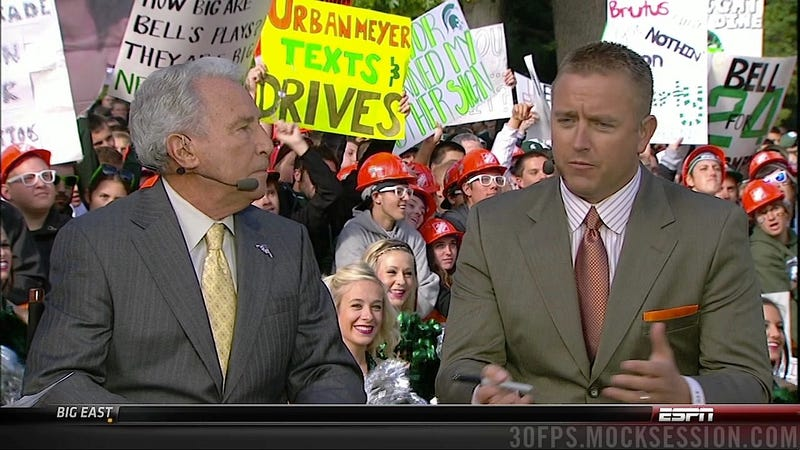 Brady Hoke Ate My Sign: The Best Signs Behind The College Gameday Crew (Plus Michigan State Fans Calling Lee Corso An Asshole)