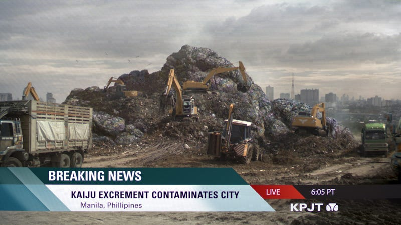 Pacific Rim shows you what it looks like when Kaiju take a dump on your house