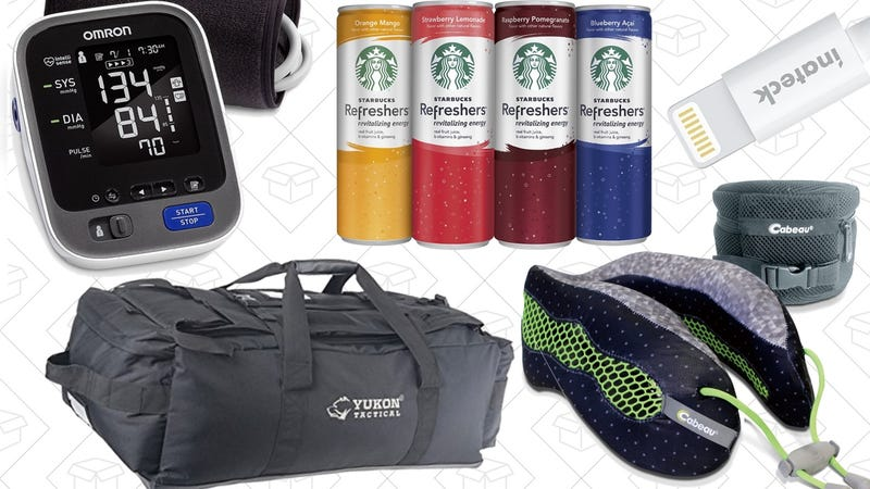 Today's Best Deals: Your Favorite Travel Pillow, Wireless Blood Pressure, No Man's Sky