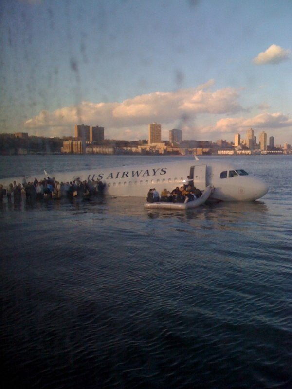 US Airways Waterlanding: Close Up Image of Inflatable Rafts