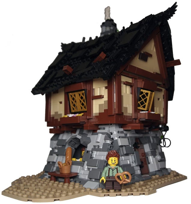 I can almost smell the bread from this Lego bakery