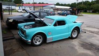 It's a Nash Metropolitan drag car!