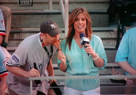 YES Reporter Loses Her Pork Chop To Hungry Fan