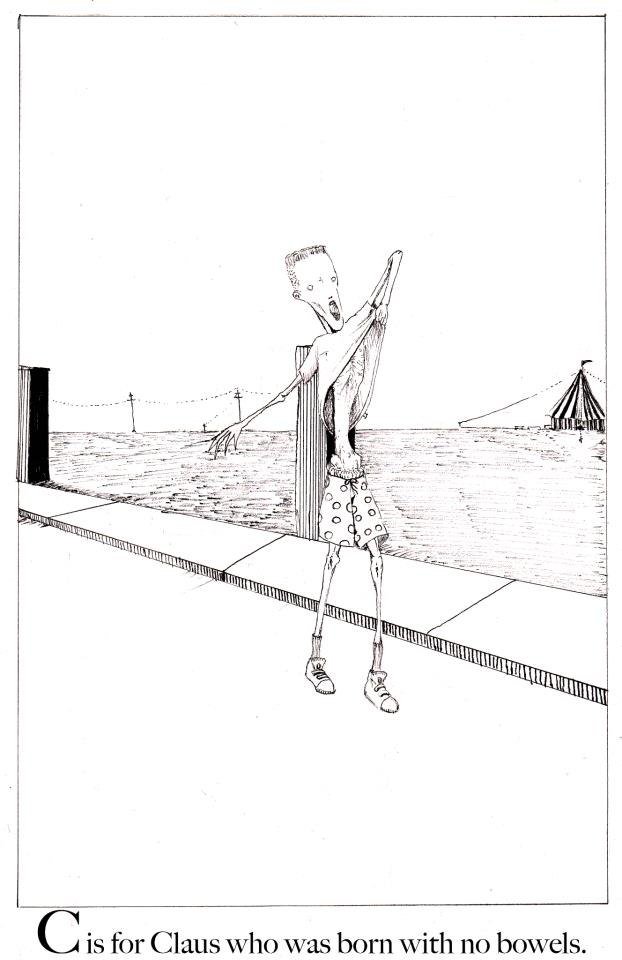 Clive Barker gets murdery with his own version of Edward Gorey's Gashlycrumb Tinies